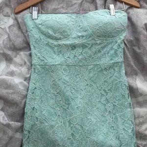 Lulu's mint green mermaid dress